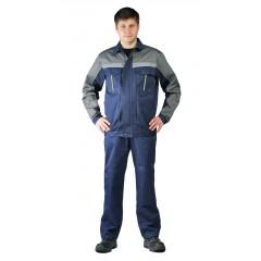 """Костюм мужской """"Оптимальный"""" летний с брюками т.синий/серый"""