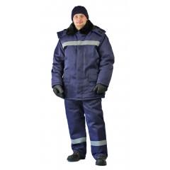 "Костюм зимний ""СТРОИТЕЛЬ-ГРЕТА"" куртка/брюки, цвет: т.синий"