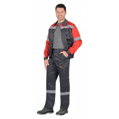 """Костюм """"ЛЕГИОНЕР"""": лето  куртка, брюки т.серый с красным и СОП 50"""