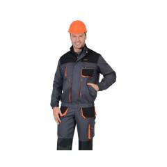 """Костюм """"МАНХЕТТЕН"""" куртка короткая т-серая с оранж. и чер. П/Комб."""