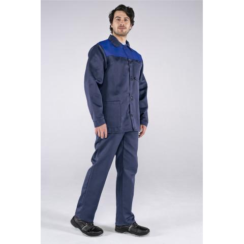 Костюм Стандарт: (тк. Смесовая, 210) брюки, т.синий/васильковый