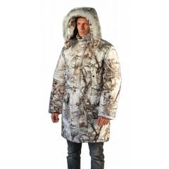 "Куртка-парка мужская ""Тайга"" зимняя, подкл. термофольга, цв.кмф Зимний лес"