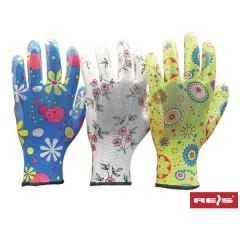 Перчатки садовые «Цветочек» нейлоновые с полимерным покрытием