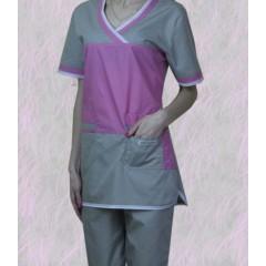 Костюм фиолетовый с серым