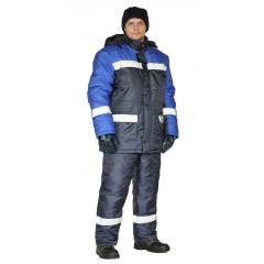 "Костюм зимний ""СКАНДИН-СОП"" куртка/полукомб. цвет: т.синий/василек"