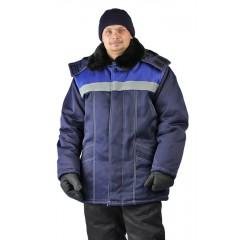 "Куртка зимняя ""УРАЛ"" цвет: т.синий/василек"