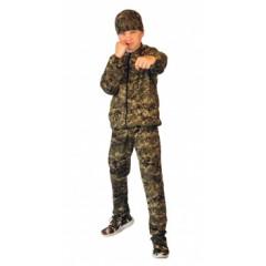 "Костюм детский трикотажный ""ТИгР"" серо-зеленая цифра (куртка+брюки 100% х/б)"