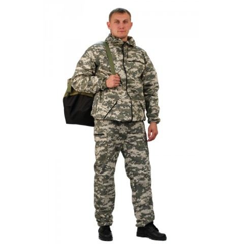 "Костюм ""ТУРИСТ 3"" куртка/брюки, цвет: кмф ""Цифра св.серый"", ткань: Грета"
