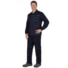 "Костюм ""Труд"" летний: куртка, брюки. тёмно-синий (узб.Саржа)"