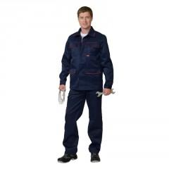 """Костюм """"Профессионал"""": куртка, п/комб. синий с красным кантом"""