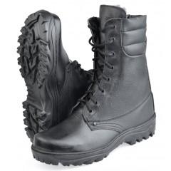"Ботинки с высоким берцем ""Ратник-Зима"" на натур. меху, подошва резина"