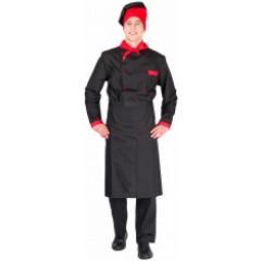 Костюм мужской повара Су-шеф (тк.ТиСи), черный/красный
