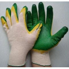 Перчатки рабочие х/б с двойным латексным покрытием