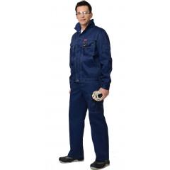 """Костюм """"С-Плутон"""" летний: куртка, брюки темно-синий (узб. Саржа)"""