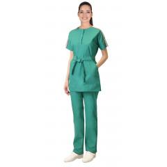 """Костюм """"ЛИБЕРТИ"""" женский: блуза, брюки, зеленый"""