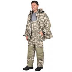 """Костюм """"Бизон"""" зимний: куртка, п/комб. (тк.Рип-стоп) КМФ """"Пустыня"""""""