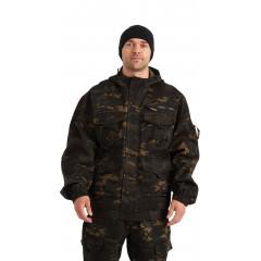 """Костюм """"БАРС"""" куртка/брюки, цвет: кмф """"Мультикам черный"""", ткань: Грета"""