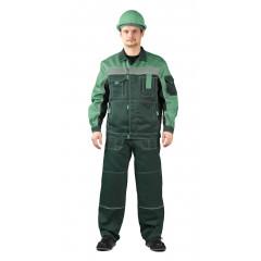 """Костюм """"РОЛЬФ"""" куртка/полукомб, цвет: Т.зеленый/СВ.зеленый"""