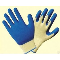 Перчатки СТЕКОЛЬЩИКА с рельефным  покрытием из натурального латекса