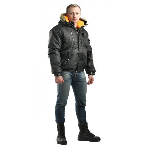 """Куртка """"Аляска"""" мужская укороченная чёрная"""