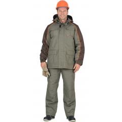 """Костюм """"Кобальт"""" куртка, брюки, оливковый с темно-коричневым"""