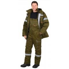 "Костюм ""Титан"" зимний: куртка дл., п/комб. хаки и СОП-50мм. тк.CROWN-240"