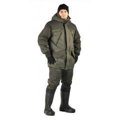 Костюм зимний «ГРАСК» куртка/полукомб. цвет: св.хаки/т.хаки, ткань: Таслан