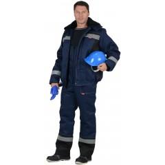 """Костюм """"Мастер-Д"""": куртка кор.,п/комб. тёмно-синий с СОП"""