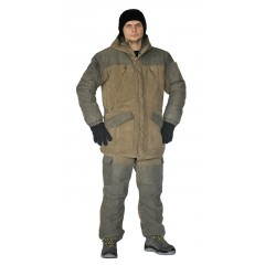 Костюм зимний «ГЕРКОН» куртка/брюки, св.хаки/т.хаки, ткань: Финляндия