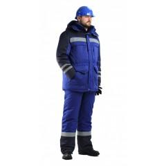 """Костюм мужской """"Зимник"""" зимний васильковый с т-синим"""