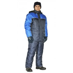 "Костюм мужской ""Балтика"" зимний т.синий с васильковым, 100%полиэфир"